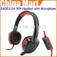 High Quality Cobra 7.1 Surround Stereo SADES SA-904 Headband Headphone Headset with  Microphone,free shipping &drop shipping