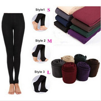 Free shipping 2014 New 115g Winter Autumn Warm Thickness Women Tights  villi skinny slim Candy Color Women Plus Size Stockings