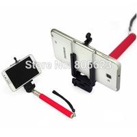 Camera Phone Handheld Self Timer Monopod+ holder, Self-Stick,Telescopic Stand Holder for Iphone ,Samsung