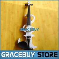 Electric Violin/ Fiddle Beginner Black/ White Wooden Student Electronic Violine For Sale Send With Rosin, Case And Headphone