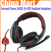 New Arrival Cobra 7.1 Surround Stereo SADES SA-902 Headband Headphone Headset with Microphone,free shipping &drop shipping