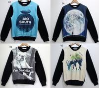 [Magic] old hot model fleece inside 3d sweatshirt men/women long sleeve o neck high quality cotton hoodie 19models