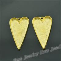 15 pcs Charms Heart Frame Pendant  Gold color  Zinc Alloy Fit Bracelet Necklace DIY Metal Jewelry Findings JC581