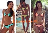 Fashion New Simple Design Neoprene Bikini Set, 8 colors,Xs to XL,Sexy Women Swimsuit, 2014 Ladies Swimwear