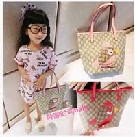 new fashion lovely birds bag portable canvas handbag fashion children single shoulder bag