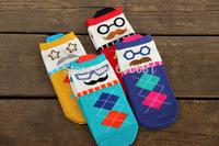 cute cartoon socks three-dimensional diamond clown colorful fun lady socks  over 12 years old  children