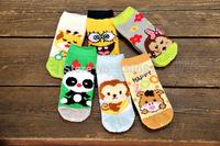 South Korea's new children's baby coral velvet thick socks in tube socks stuffed cartoon socks 4-7 years old