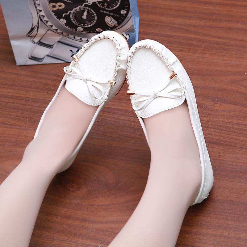 alunos x1006 couro novo bowknot senhoras sapatos casuais, sapatos estilo sul-coreano, mãe sapatos, o velho pode usar sapatos, trabalho(China (Mainland))