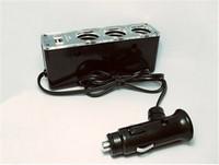 New Car Cigarette Lighter for Dc 12V 3 Ways Car Charger USB Port Car Power Socket Extension Cable free ship