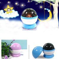 Lovely LED Auto Rotating Dreamlike Luminous Lamp Star Projector Night Light Romantic Birthday Kids Gift