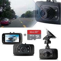 "Original !! GS8000L HD1080P 2.7"" Car DVR Vehicle Camera Video Recorder Dash Cam G-sensor HDMI + 64G memory tf micro sd card"