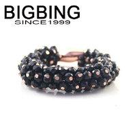 BigBing  jewelry fashion jewelry  Bright black section of simple Bracelet beads bracelet  fashion Bracelet fashion jewelry j998