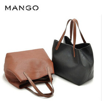 MANGO New Casual Deformable Women Handbag  PU leather  Women Shoulder Bag Ladies tote Bolsas Femininas Free shipping YK80-463