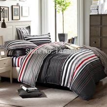 Cool Plaid For Men 100% Cotton Bedding Sets 4pcs Fsahion For Queen Size Duvet Qulit Set Free Shipping(China (Mainland))