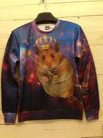 Crown Rat Tide 3D Printed Sweater For Women Men Sweatshirts Tops Long Sleeve