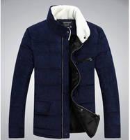 2014 thickening winter park of men winter jacket  fashion stand winter jacket zipper man coat winter warm down jacket clothes