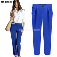 2014 Fashion New Autumn Winter Full Length Pants For Women Casual Plus Size Work Wear OL Slim Thin Pencil Pant 2042