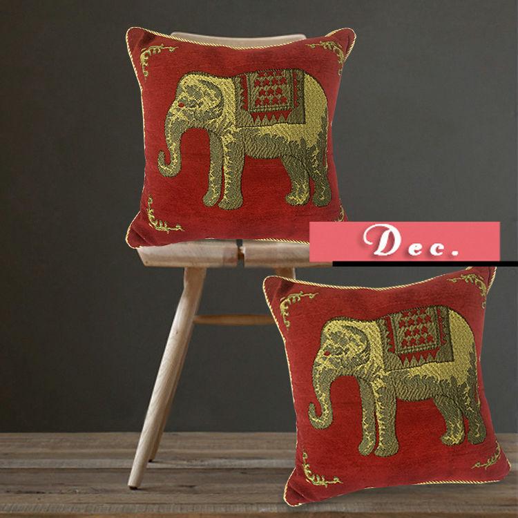 Dezembro Ikea decoração de por atacado elefante do vintage sofá capas de almofada(China (Mainland))