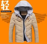 2014 latest fashion Slim wild comfortable upscale men detachable cap down jacket down coat jacket tide Korean Slim England