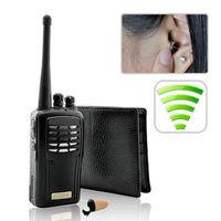 Details about Walkie Talkie Wallet Earpiece Transmitter Receiver Wireless Kit
