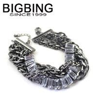 BigBing  jewelry fashion jewelry  black chain crystal Bracelet charm bracelet  fashion Bracelet fashion jewelry j987
