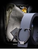 Free shipping men's leather belt buckle belt smoothing