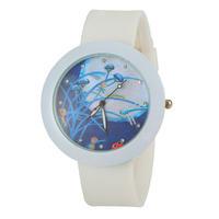 Women's Watch Casual Watch Rhinestone Watches Fashion Watch Round Analog Watch with Silicone Strap -5