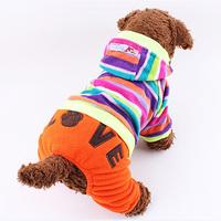 Fashion Hot Dream Colorful Bubble Stripe Loose Coat Pet Clothes for Pet Dogs