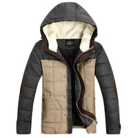 2014 winter coat  for men jacket winter zipper casual man jacket hooded down cotton  winter park casual jacket for outdoor 228B