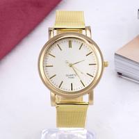 Simple Luxury Gold Fashion watches Men and Women Business wrist quartz watch Classic Bracelet Chain clock