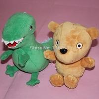 "2 PCS Peppa Pig Plush Doll Stuffed Toy Peppa Bear& GEROGE Dinosaur 6.5"""