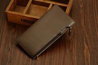 2014 new Business men wallet  men bag with coin purse zipper clutch wallet
