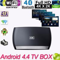 Android 4.4 TV Box Amlogic S802 Quad Core Mali450 4K 2G/8GB Tv Receivers Set Top Box Wifi XBMC Bluetooth 4.0 TV Media Player