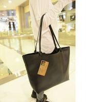 vintage casual 2 bags/set women clutch messenger mango bags fashion travel big bags designer high quality leather handbag