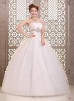 Sexy Wedding Dresses Floor Length Bridal gown Sweatheart Strapless Back Lace Up Crystal Vestido de noiva X029