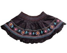Retail Baby Girls infant pettiskirt children clothing nova baby tutu skirt embroidery flowers mini skirt for baby girls H2473(China (Mainland))