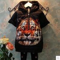 Girls Thick Coat Hoody Winter Warm Overcoat Children's Clothing Outerwear & Coats Parkas Children Outerwear Roupa Infantil CW-35