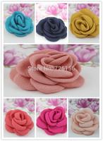 120pcs/lot Mini Layered Poppy Flower hairband accessories Flat Back