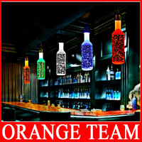 Bubble Crystal Bottle Pendant Lights BAR lamp creative personality LED restaurant crystal art 6 color for shoose