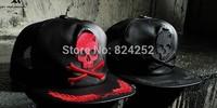 Street casual skull hat Fashionable hip-hop baseball cap hat men and women couple flat brimmed hat mesh cap