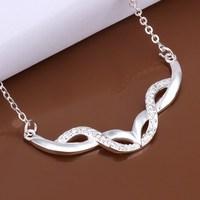 N426 Free Shipping 925 sterling silver Necklace, 925 silver fashion jewelry  /bieajzla etuanlba