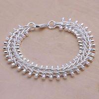 H050 925 sterling silver bracelet, 925 sterling silver fashion jewelry Fish Bone Bracelet /aleajcla dwuamoba