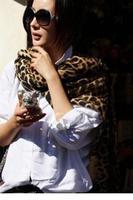 Korean Style Fierce Leopard Chiffon Long Scarf LC40543