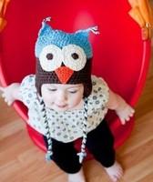 Wholesale Price Baby Girl Boy Winter Beanie Crochet Winter Hat Cute Owl Skullies Children Warm Bomber Hat Cap Knitted Cap
