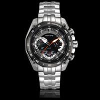 2014 watches men luxury brand Motafe calendar quartz watch Bergsteigen Series relogio masculino full stainless steel wristwatch