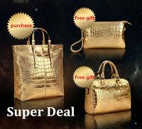 buy one get two 3 bags/set women handbags designer handbags high quality shoulder bags clutch messenger bucket bag vintage bag
