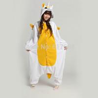 Free Shipping Animal Pajamas Cosplay Costume Sleepwear Jumpsuits Animal Onesies Pyjamas Golden Yellow Unicorn