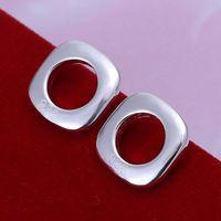 E016 Wholesale ! Wholesale 925 silver earrings, 925 silver fashion jewelry, Square Earrings