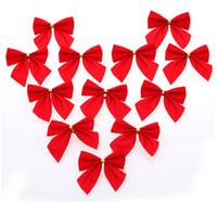 36 PCS/lot 2014 xmas Decorations Trees Bowknot Pendant Merry Supplies New Year Ornaments Santa Claus Navidad