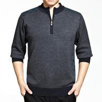 Autumn/winter brand higth quality 2014 men's soild formal Joker t solid color knit Cardigan
